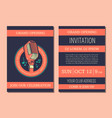 invitation card template for karaoke music vector image vector image