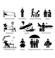 life insurance protection stick figures depict vector image vector image