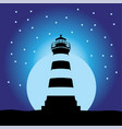 lighthouse sunset silhouettes 2 vector image vector image