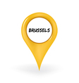 Location Brussels vector image