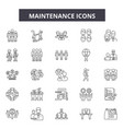 maintenance line icons signs set linear vector image vector image