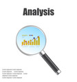 market research magnifier vector image