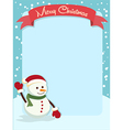 Merry Christmas Snowman Banner vector image vector image