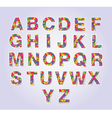 Multicolors polygon font vector image