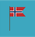 norway flag icon in flat design vector image