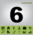 number 6 sign design template element vector image vector image
