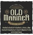 old mariner vintage poster vector image vector image