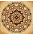 ornate mandala and zodiac circle horoscope signs vector image vector image
