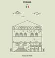 palazzo dei priori in perugia italy vector image vector image
