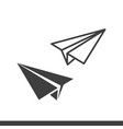 paper plane icons vector image vector image