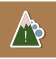 paper sticker on stylish background Mountain vector image vector image