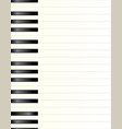 piano key background vector image vector image