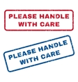 Please Handle With Care Rubber Stamps vector image vector image