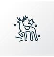 reindeer icon line symbol premium quality vector image