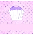 Retro card with cupcake EPS 8 vector image vector image