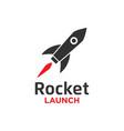 rocket launch logo design template vector image