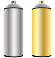 Spray bottle gold and aluminum vector image vector image