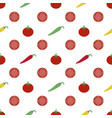 tomatoes and peppers background vector image vector image