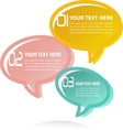 Translucent Thought Bubbles Infographic Business vector image vector image