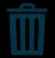 trash bin mosaic icon of halftone spheres vector image vector image