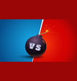 vs letters on black bomb vector image vector image