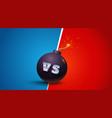 vs letters on black bomb vector image