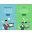 Web Design SEO Infographic Set vector image vector image
