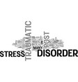 what is post traumatic stress disorder text word vector image vector image