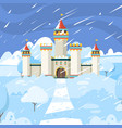 winter castle fairytale frozen building kingdom vector image vector image