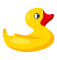yellow rubber duck for bath isolated vector image