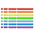 glass buttons set multicolor vector image