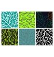 Set of six floral patternsTemplate for design vector image