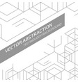abstract cell vector image vector image