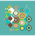 Abstract colorful and creative geometric with a