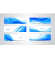 abstract flow wavy banners set water vector image vector image