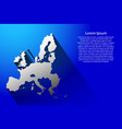 abstract map of european union with long shadow vector image vector image