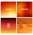 abstract red sunset blurred background set vector image vector image