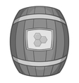 Barrel of honey icon black monochrome style vector image vector image