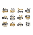 Beer logo labels and icons Collection vector image vector image