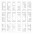 big set of door ideas big set combination vector image