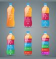 bottle water infographics vector image vector image