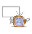 bring board tv character cartoon object vector image vector image