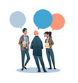 business people chat bubble communicating concept vector image