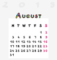 calendar 2015 august vector image vector image