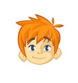 cartoon small blond boy vector image vector image