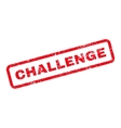 Challenge Text Rubber Stamp vector image