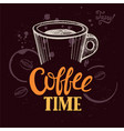 coffee poster for restaurant and cafe vector image vector image