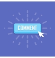 Comment button template design Business vector image