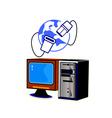 computer internet vector image vector image