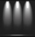 concert lighting stage spotlights set vector image vector image